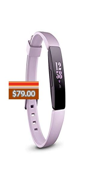 One Size Fitbit Inspire HR Heart Rate /& Fitness Tracker S /& L Bands Included
