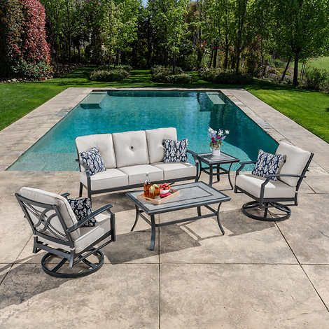 Sunvilla Hamilton 5 Piece Deep Seating In 2020 Deep Seating Patio Set Outdoor Furniture Sets