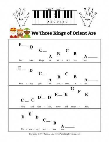 We Three Kings Of Orient Are Pre Staff With Letters Christmas
