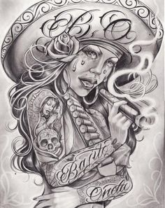 Gangster Cartoon Tattoo Designs : gangster, cartoon, tattoo, designs, Cartoon, Gangster, Tattoo, Ideas, Tattoos,, Chicano