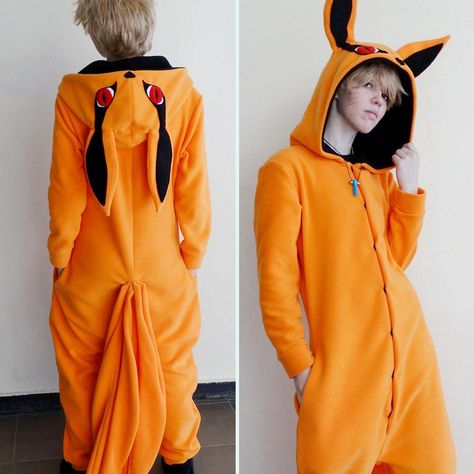 Look just as powerful and intimidating as the Kurama from Naruto! This handmade kigurumi has perfectly captured the nine-tailed beast, right down to his intimidating expression, red eyes and nine tails on the back.