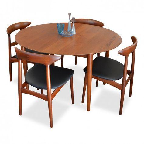 For Sale Vintage Danish Design Teak Dining Set By Hvidt Molgaard Kurt Ostervig