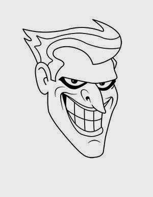 Dibujo Con Lapiz Dibujo Del Joker Para Entrenar Lineas Y Colorear