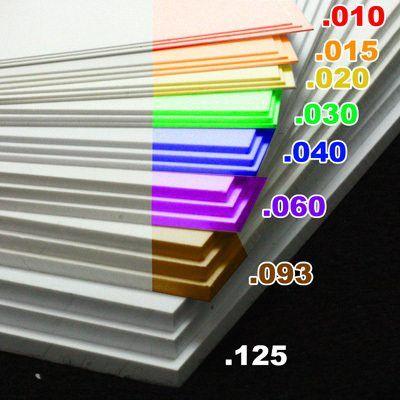 0 040 1mm White Sheet Styrene Styrene Sheets Styrene Plastic Sheets