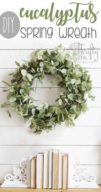 Diy Eucalyptus Spring Wreath Spring Wreath Tutorial Diy Spring Wreath Spring Diy
