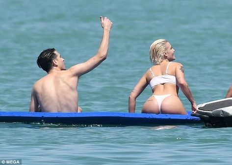 Halsey dons thong bikini during yacht trip with boyfriend G-Eazy