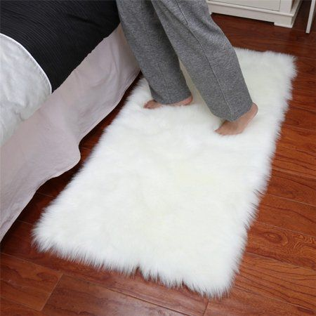 Faux Fur Artificial Skin Rectangle Fluffy Chair Seat Sofa Cover Carpet Mat Area Rug Living Bedroom Home Decoration 23 6 70 8 Inch White Walmart Com White Faux Fur Rug Fur Rug Living Room
