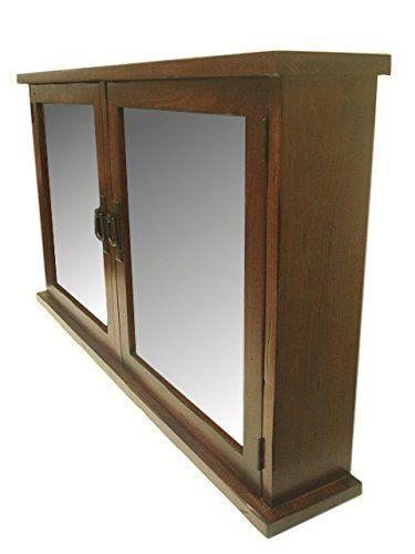 D E Wood Craft Cabinets Primitive Mission Medicine Cabinet 2 Doors Solid Wood Handmade Wood Medicine Cabinets Cabinet Craft Cabinet