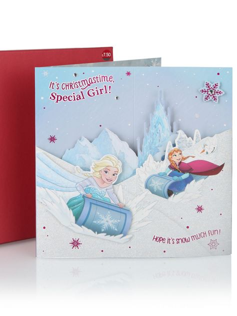 Disney Frozen Special Girl Luxury Boxed Christmas Card - Christmas ...