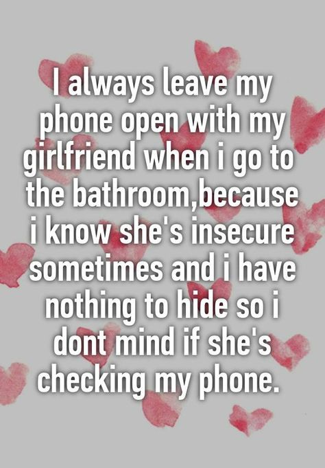 Our is relationship about my girlfriend insecure Is Insecurity