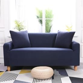 Navy Blue Waterproof Sofa Slipcover In 2020 Sofa Covers Couch Covers Slipcovers