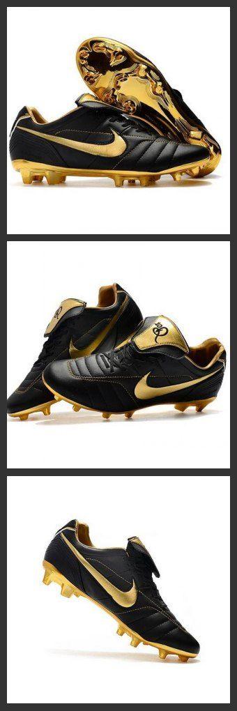 Uomo Nike Tiempo Legend 7 FG scarpe da calcio Nero Oro