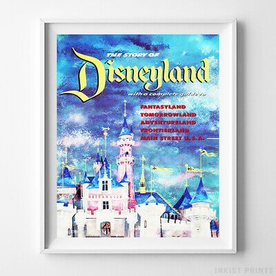 Disneyland Poster Haunted Mansion Attraction Disney World Decor UNFRAMED