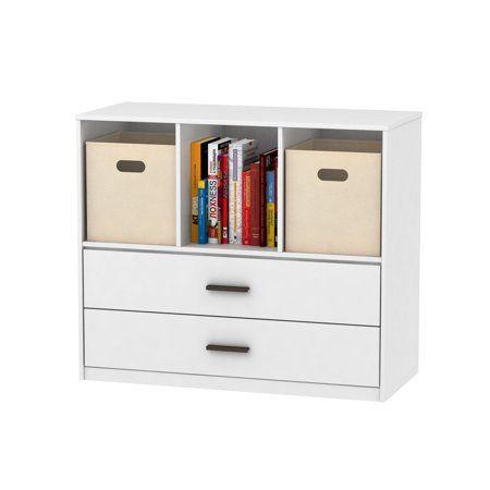Mainstays 2 Drawer Dresser With 3 Open Cube Storage Multiple Finishes Walmart Com Cube Storage 2 Drawer Dresser Cube Storage Bins