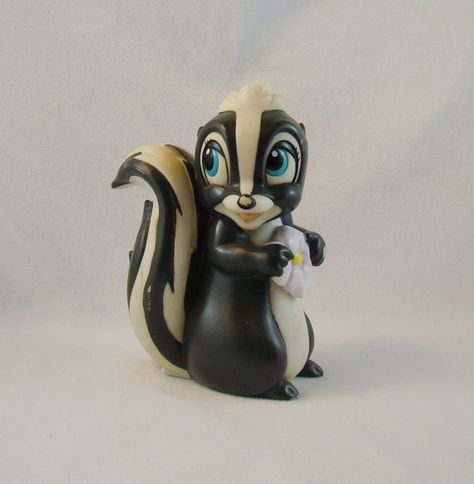 Sale  Rare Flower Skunk Bambi Disney by BellsBeehiveEmporum, $7,00