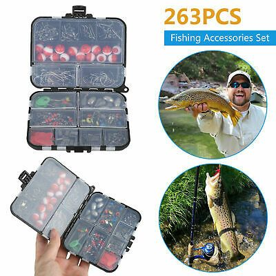 Meshes Fishhook Fishing Equipment With Tackle Box Carp Fishing Accessories Kit