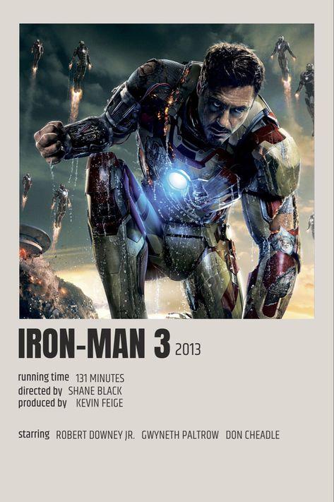 Iron Man 3 Polaroid Poster
