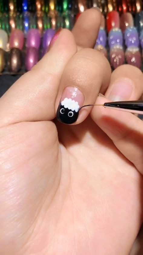 Sheep Pattern Nail Video Tutorial 45 Best Halloween Nail Art Design Ideas for 2019