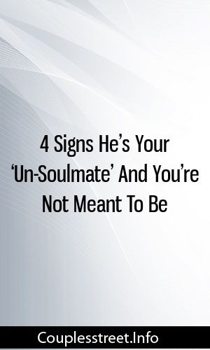 Signs hes your soulmate