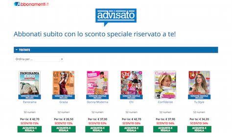 Riviste: come abbonarsi on line e risparmiare - the Shopping Corner