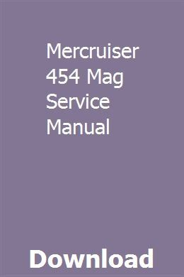Mercruiser 454 Mag Service Manual Owners Manuals Bmw R1200rt R1200rt