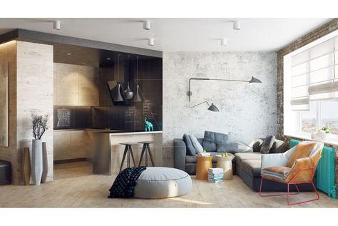 Kleurrijke Witte Woonkamer : Kleurrijke woonkamer. amazing qkart abstract schilderen kleurrijke