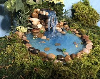 Especially In The City There Are More And More Plots With Tiny Gardens When Designing Such Miniature Gardens It I In 2020 Fairy Garden Decor Fairy Garden Garden Pond