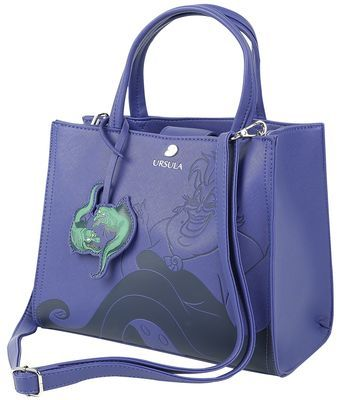 Loungefly Disney Maleficent Face Tote Bag Black//Purple