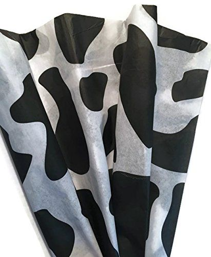 Cow Print Patterned Tissue Paper For Gift Wrapping 24 Sheets