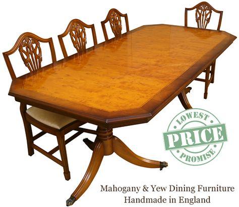 Reproduction Dining Tables Mahogany Yew