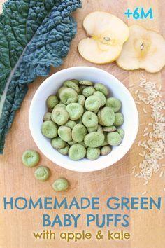 Baby Green Puffs No Gluten No Dairy 6m Recipe Homemade Baby Puffs Homemade Baby Foods Baby Food Recipes
