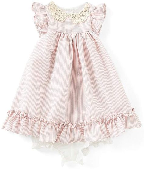 4221d8945 Laura Ashley London Baby Girls Newborn-24 Months Crochet-Collar Fit-And-