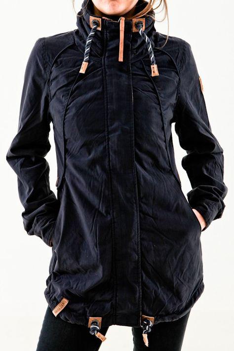 abgeholt großhandel online großer Diskontverkauf Naketano Tanaka III dark blue blau Damen Übergangsjacke ...