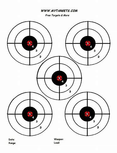 graphic relating to Printable Shooting Targets 8.5 X 11 named Picture consequence for Pistol Objectives Printable for 8.5X11