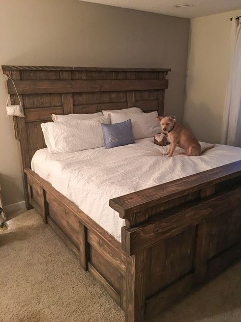 Diy King Size Bed Free Plans Rustic Bed Frame Bed Frame Plans