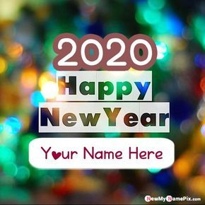Unique New Year Celebration Picture Create Make Your Name