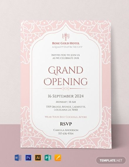 Free Hotel Opening Invitation Card Invitation Card Format