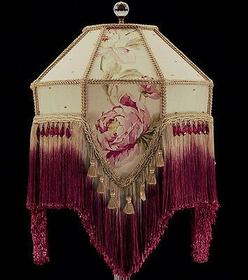 Victorian Lampshades, Victorian Lamp Shade Beaded Fringe