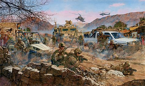 Military art by James Dietz