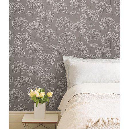 Nuwallpaper Angelica Grey Peel Stick Wallpaper Walmart Com Peel And Stick Wallpaper Home Decor Grey Wallpaper