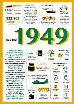 Geschenk Zum 70 Geburtstag Jahrgang 1949 Chronik