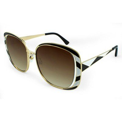 b00baf24ed7 Women s Square Sunglasses With Dark Brown Gradient Lens - A New Day Black  Gold