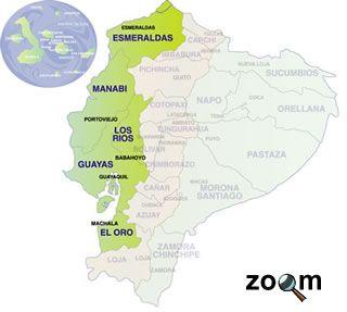 Resultado De Imagen Para Mapa De La Region Costa Del Ecuador