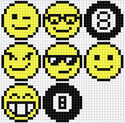 Quadrillage Pixel Smileys Pixel Art Grille Pixel Art Et