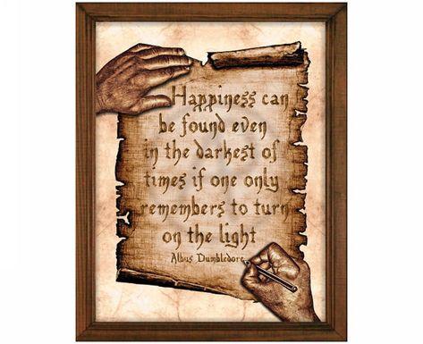 Harry Potter Art Quote Albus Dumbledore Quote Printable