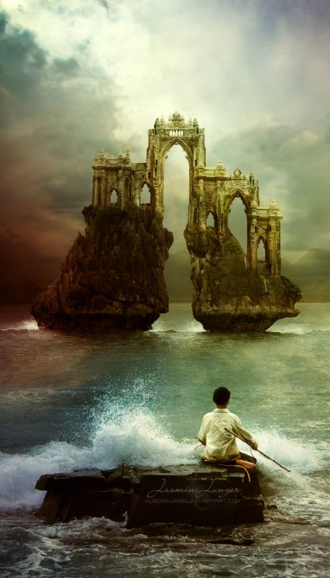 Avalon. It cannot exist in the mortal realm. There's a world beyond, and only certain places where that realm can be accessed. Never by the living though, only the dead can pass.