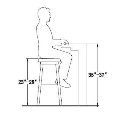 Standard Counter Stool Height Bar