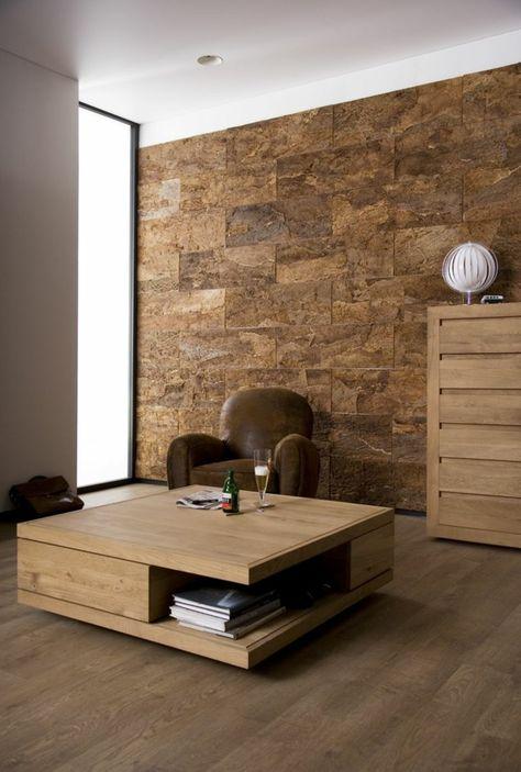 rustikaler couchtisch massivholz quadratisch mit unterfach - wohnzimmertisch eiche rustikal