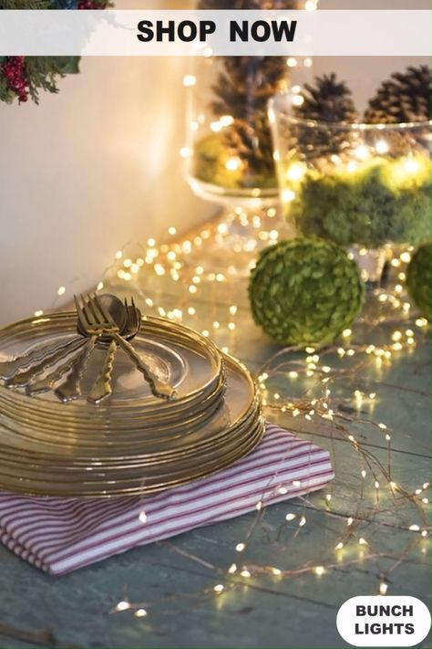 Our Firefly Bunch Lights have a flexible, bendable wire with warm white micro LEDs so you can create magical lighted designs. Simply shape, bend and twist them however you like – the lights can be used bundled or separate the individual strings to create eye-catching displays.