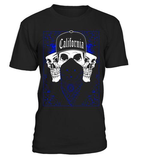 CaliDesign Mens Bandana California Skull Tank Top Cali Paisley Print
